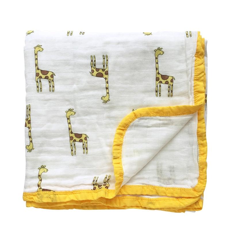 2 Layer Baby Blankets Newborn Swaddle Wrap Thicken Muslin Cotton Swaddle Newborn Swaddling Baby Bedding Receiving Blanket