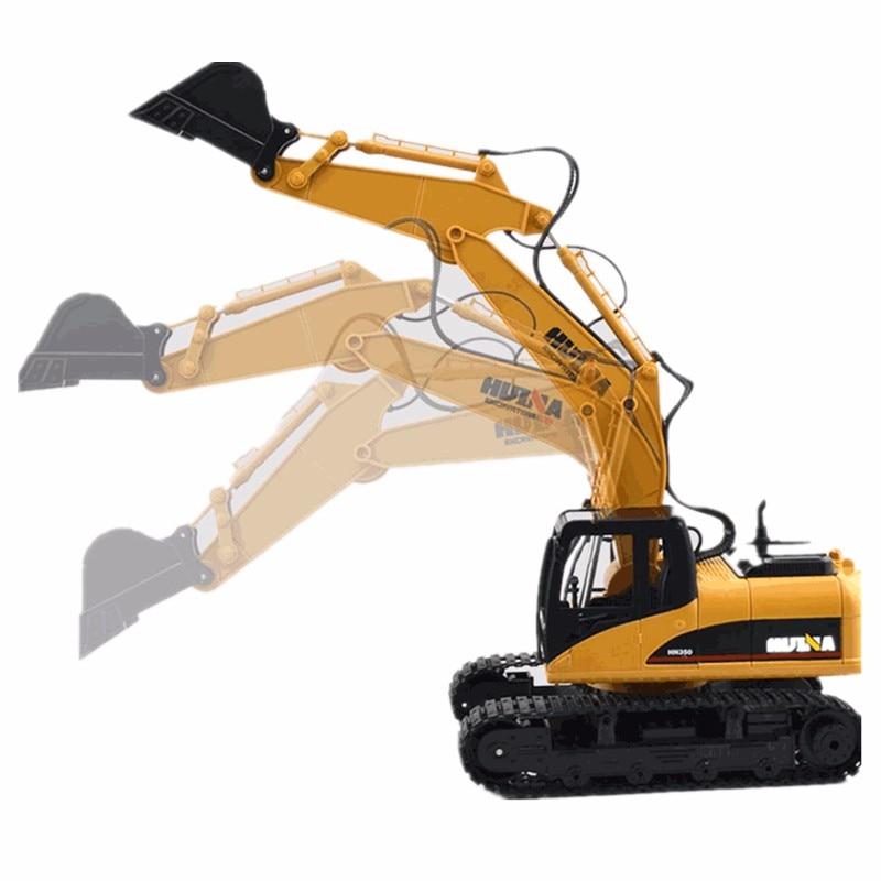 HuiNa Giocattoli 1550 15 Canali 2.4g 1/12 RC del Metallo Escavatore Ricarica 1:12 RC Auto Con Batteria RTG
