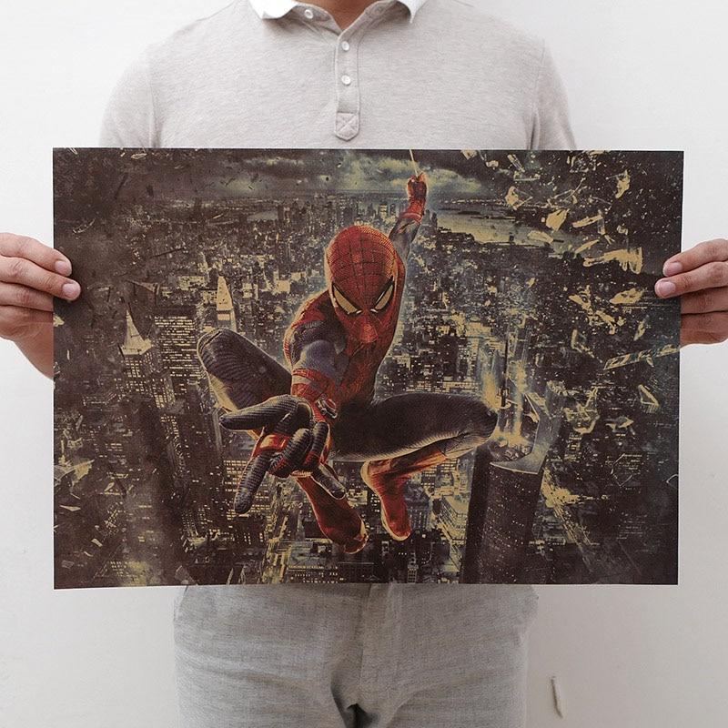 Mling 1 шт., 51,5x36 см, постер из серии Marvel, Мстители, война бесконечности, Ретро плакат, наклейки на стену для гостиной, украшение для дома - Цвет: H19