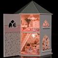 Ручной работы Кукольный Дом Мебель Миниатюрные Деревянные Мужская 3d Кукольный Домик Миниатюре Diy Кукольные Домики Игрушки Для Детей Подарок Ремесло 13816
