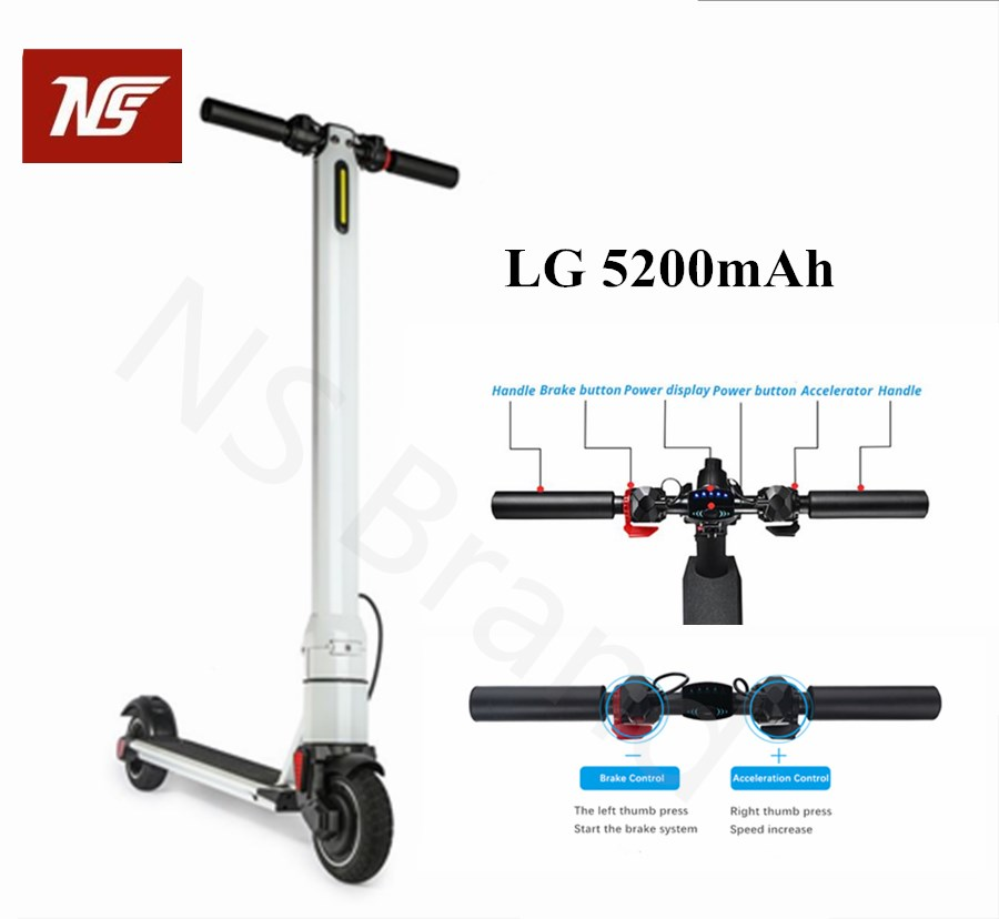 foldable electric scooter with 6 inch motor electric. Black Bedroom Furniture Sets. Home Design Ideas