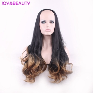 Image 5 - Peluca de pelo largo ondulado resistente al calor JOY & BEAUTY, pelucas sintéticas, negro, marrón, ombre 3/4, peluca de mujer de 60cm