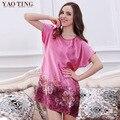 V1687 Top New Women Nightgowns Summer Style Silk Bathrobe Of Sleepwear sleep lounge Dressing Gowns Women Indoor Clothing