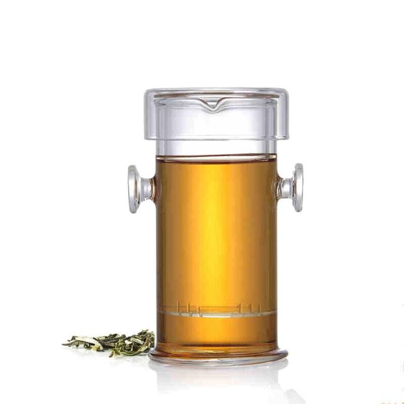 Ny 220ML varmebestandig glas tepot kinesisk Kung Fu blomster tekande - Køkken, spisestue og bar - Foto 1
