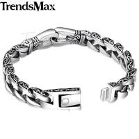 мужские trendsmax браслет из нержавеющей стали 316L нержавеющая сталь байкерский браслет винтаж тотем изогнутые окантовка из цепочки панцирного плетения hb10