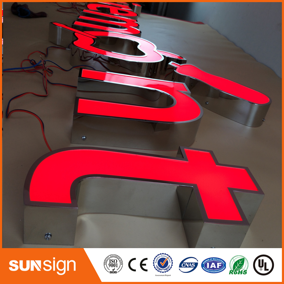 Signs Illuminated-Letters-Signs Customized 3D LED for Commercial-Use Advertising Frontlit