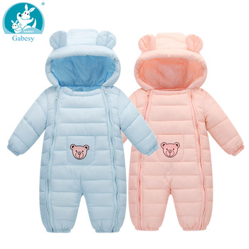 2020 new Winter Baby jumpsuit rompers girl Snow Wear Thick Warm Clothes Newborn Kids Infantil Hooded Outwear Boys Girls Clothing winter rompers baby girl newborn clothes children boys girls jumpsuit kids down cotton overalls snowsuit hoodies warm clothing