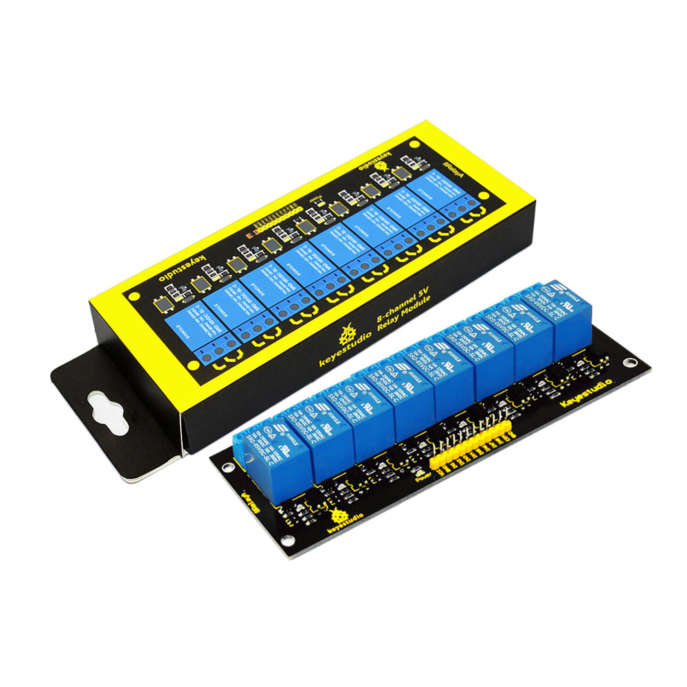 hight resolution of keyestudio 8 channel 5v relay module for arduino pic avr mcu dsp arm electronic