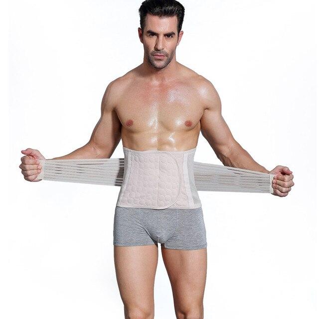 Men's Slimming Belt Body Shapers Belt Compression Corset Fitness Girdles Waist Cincher Trainer Trimmer Abdomen Fat Burning Tummy 1