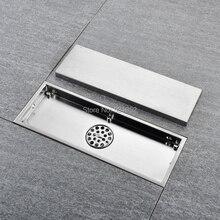 300X110 مللي متر الطابق استنزاف 304 الصلبة الفولاذ المقاوم للصدأ المضادة للرائحة الحمام غير مرئية دش الطابق استنزاف إزالة الروائح الكريهة شحن مجاني
