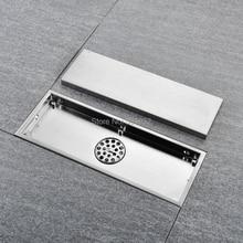300X110mm ניקוז רצפת 304 מוצק נירוסטה אנטי ריח חדר אמבטיה Invisible מקלחת ניקוז רצפת Deodorization משלוח חינם