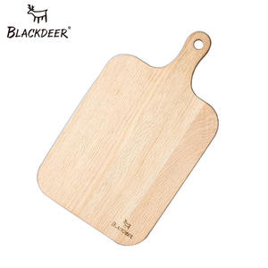 BLACKDEER Camping Real Oak Crude Wood Chopping Blocks Outdoor Health Food Plate Wooden Pizza Sushi Bread Whole Wood Tray Cutting