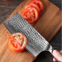 Liang Da 7 inch kitchen knife nakiri vegetable knives Japanese VG10 Damascus steel slicing chef dalbergia wood handle
