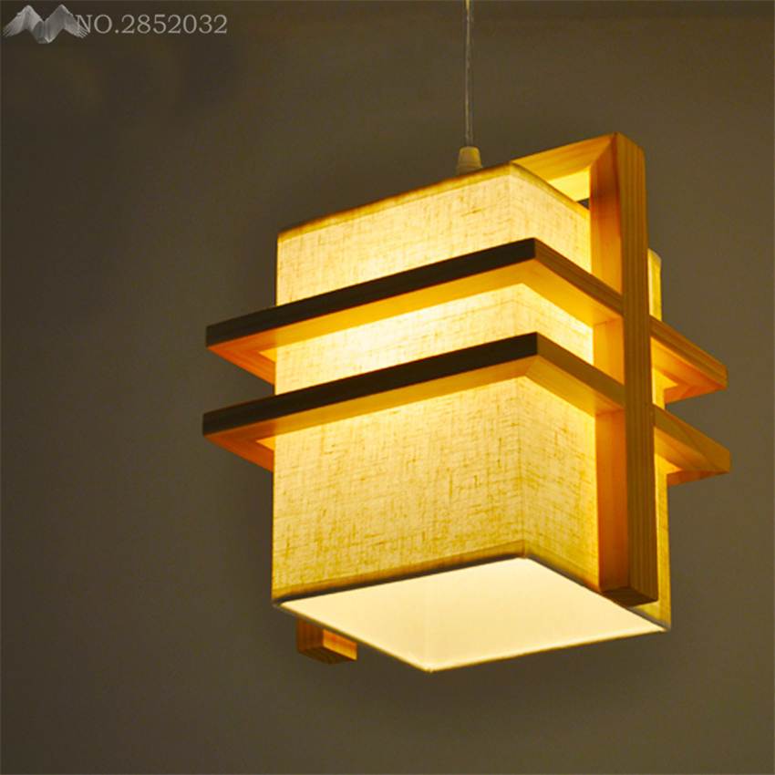 Simple Cloth Wooden Pendant Lights Chinese/Japan/Korea Style Pendant Lamp For Restaurant Dining/Living Room Lighting Fixture LFHSimple Cloth Wooden Pendant Lights Chinese/Japan/Korea Style Pendant Lamp For Restaurant Dining/Living Room Lighting Fixture LFH