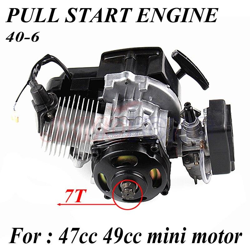 43cc 47cc 49cc 2 COURSE MOTEUR MOTEUR MINI QUAD ROCKET POCKET BIKE TIREZ LE DÉBUT MOTEUR ATV moto