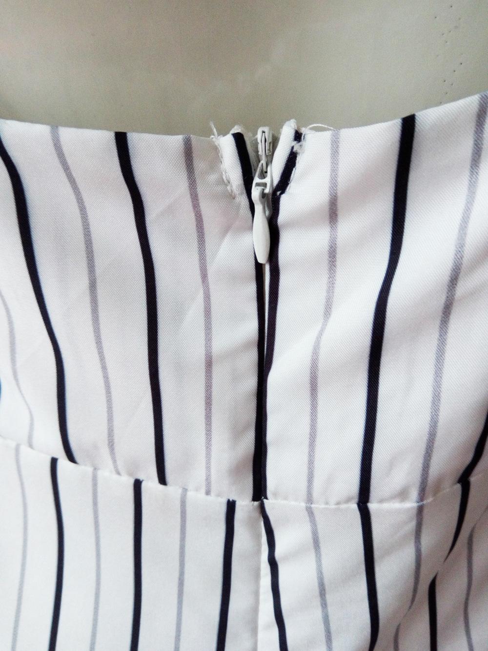 HTB1 sJSSXXXXXbaXVXXq6xXFXXX7 - FREE SHIPPING Women V-Neck Backless Strapless Striped Romper Playsuit Bodycon Club Jumpsuit Tops Outfits Sunsuit JKP377
