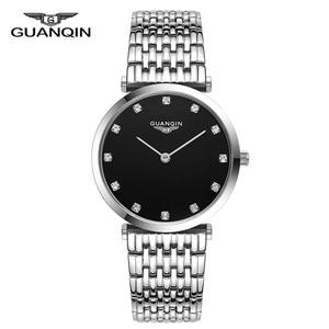 Image 5 - GUANQIN 2018 นาฬิกาผู้หญิงนาฬิกาควอตซ์ผู้หญิงผู้หญิงกันน้ำ Montre Femme ธุรกิจเหล็ก top ยี่ห้อ Unisex Relogio Feminino