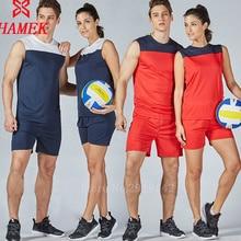Профессиональный волейбольный Тренировочный Набор для мужчин, полиэстер, для женщин, с коротким рукавом, Униформа, быстросохнущая спортивная одежда, под заказ, название numbe