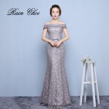 Mermaid Long Evening Dress Vestido De Festa Elegant Long Party Prom Gown 2017