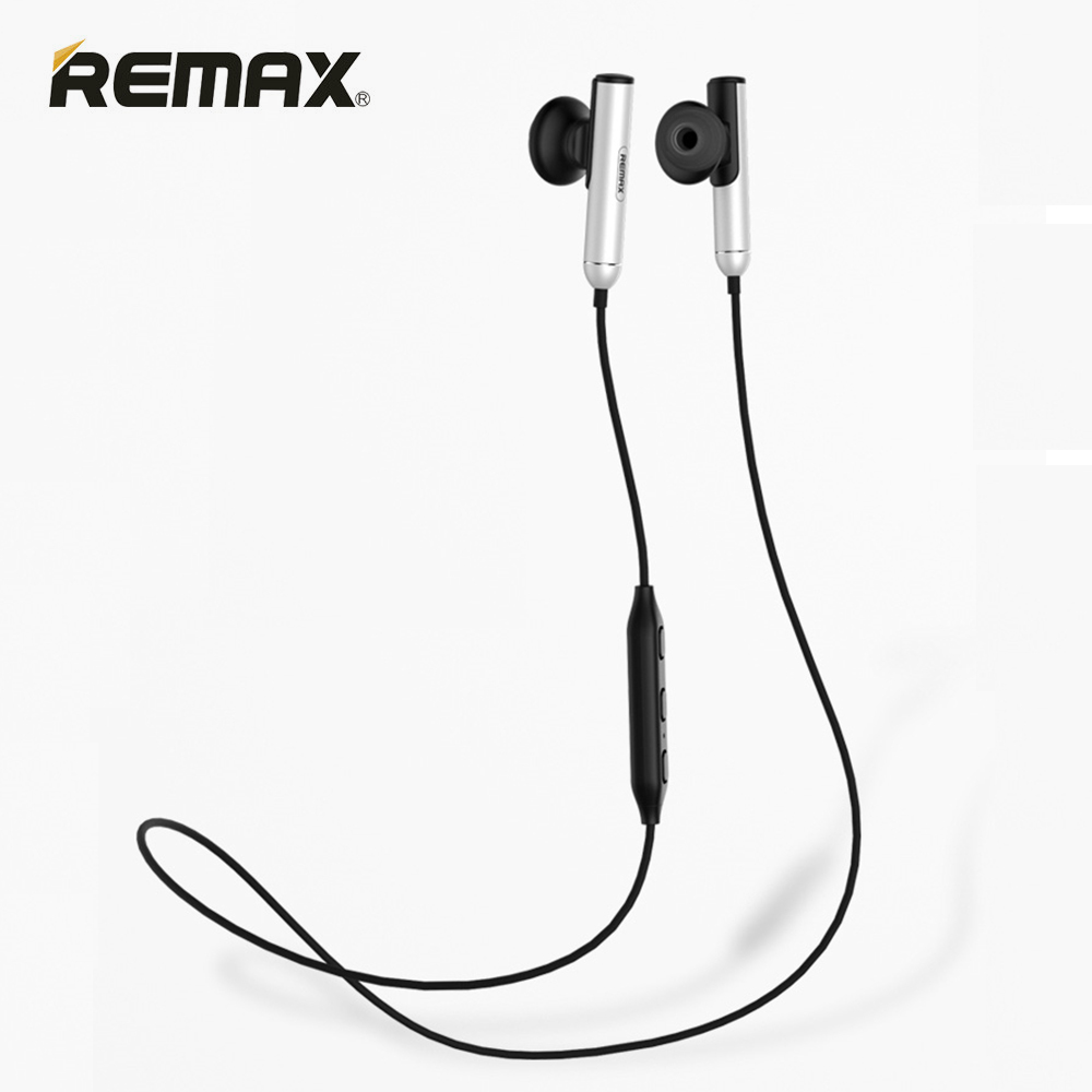Remax RB-S9 Sport Wireless Bluetooth Earphone Stereo Headset In-Ear HD Stereo Bass Earbuds with Mic for xiomi Mobile Phones plextone x46m in ear earphone removable metal 3 5mm stereo bass earbuds gaming headset with mic for computer phone iphone sport