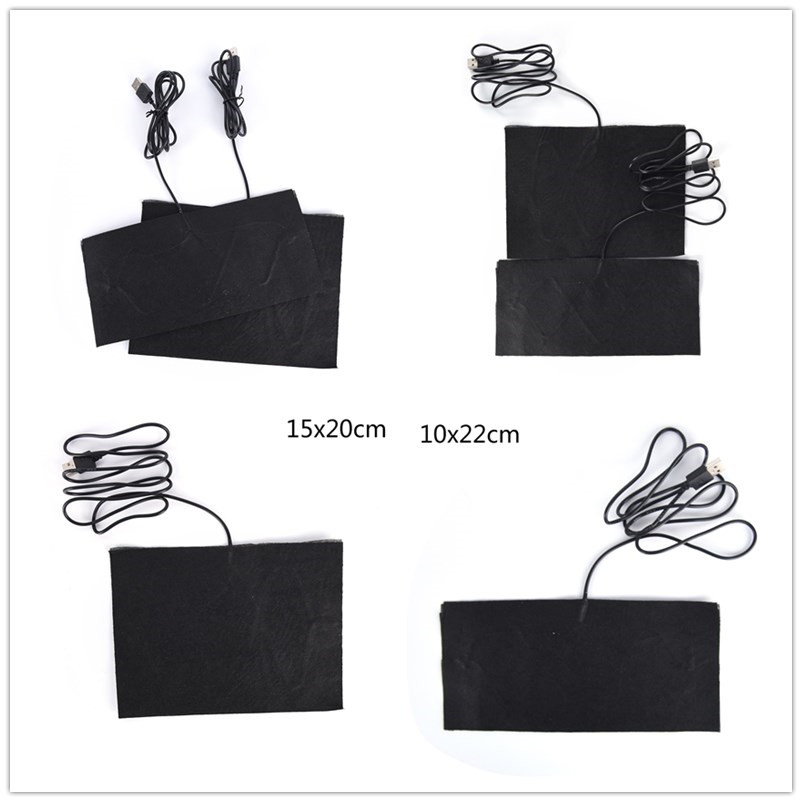 Size S/M 5V Carbon Fiber Heating Pad USB Heating Film Electric Infrared Fever Heat Mat Winter Warm Arm Waist Heat Glove