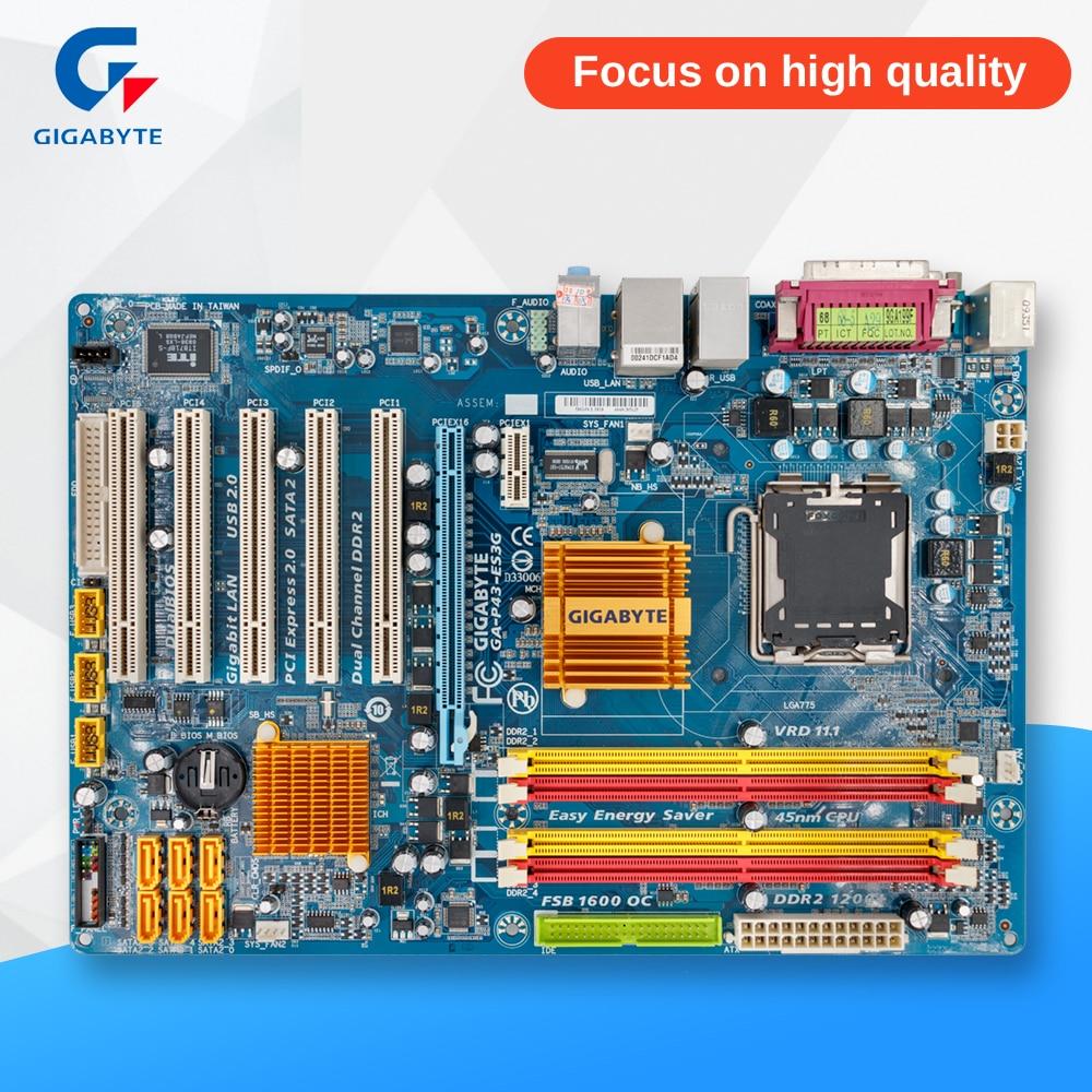 все цены на Gigabyte GA-P43-ES3G REV 1.0 Desktop Motherboard P43-ES3G P43 Socket LGA 775 DDR2 ATX On Sale
