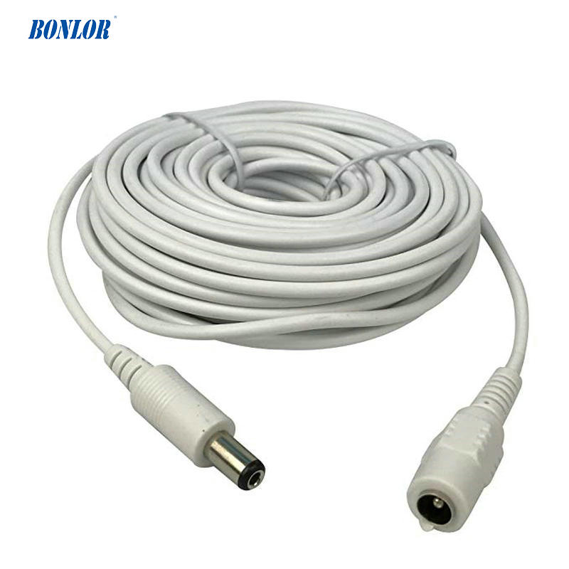 Dc 12v Power Extension Cable 10m(30ft) 2.1x5.5mm For Cctv Security Cameras Ip Camera Dvr Standalone In White Color-WPC10M