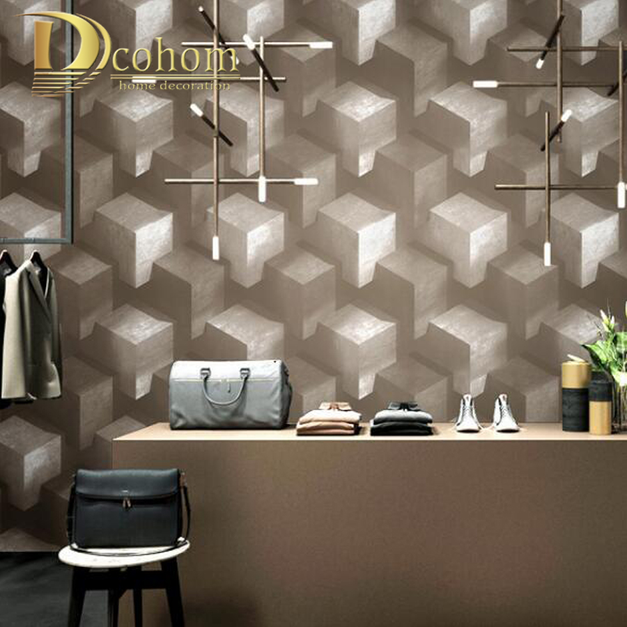 Abstract Lattice PVC Wallpaper Modern TV Background 3D Block Wallcoverings Colorful Wall Paper Personality Home Decor 3d wallpaper for living room home improvement modern wallpaper background wall painting mural silk paper abstract tunnel space