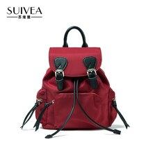 Suivea Брендовые женские рюкзак гарантировать высокое качество холст 2017 Подростковая школьные Путешествия Bagpack девушки Женский Холст Bagpack