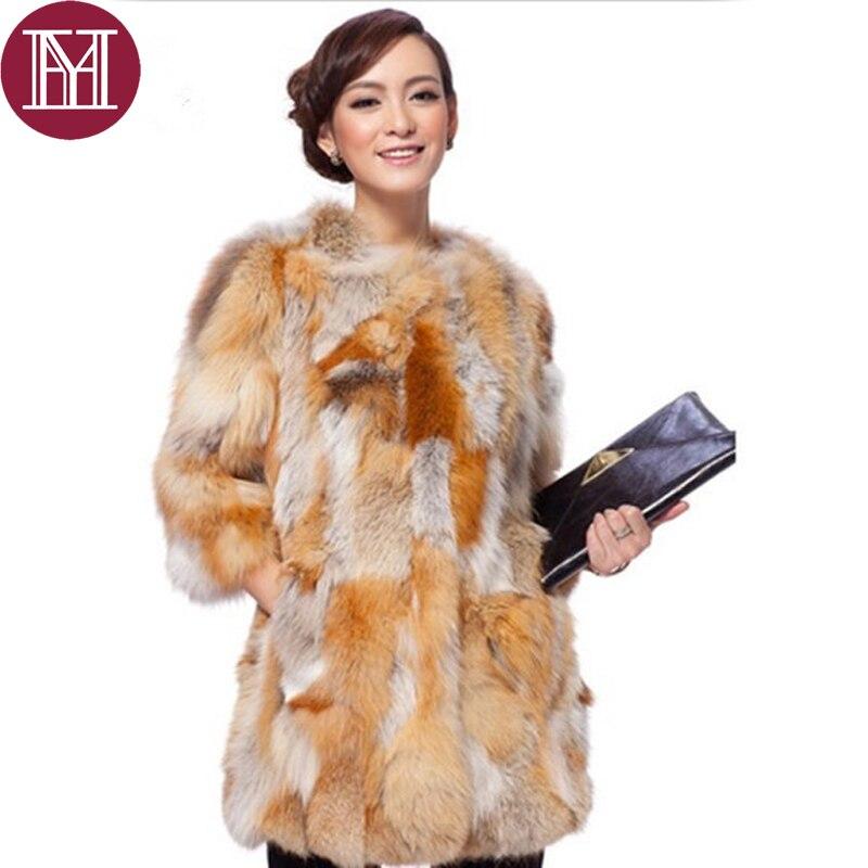De Mujer Real Abrigo Marca 2017 Piel Mujeres Casual Personalizada Fox Naturaleza Cálido Chaqueta Invierno Nuevas Bxq8w1tC