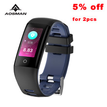 AOSMAN G16 Smart Bracelet Android IOS Color Watch Heart Rate Blood Pressure Oxygen Monitor Fitness Calorie Waterproof Smart Band(China)