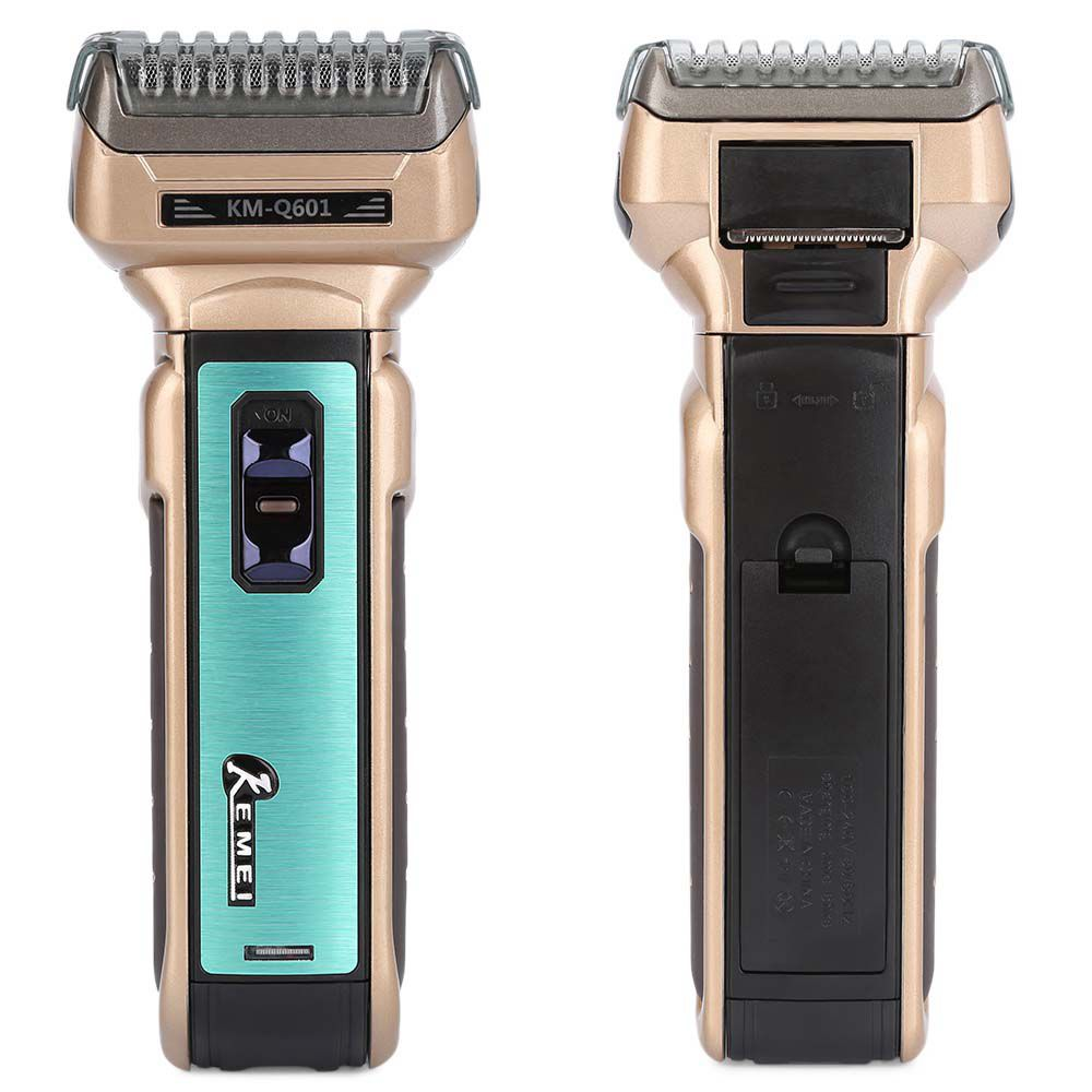 Kemei KM-Q601 Portable Electric Shaver EU Plug with Hair Cutter Twin Blades Multi-function Travel Use Safe Razor for Men new brand kemei km a588 electric shavers razor blades travel use safety professional shaver for man maquina de afeitar electrica