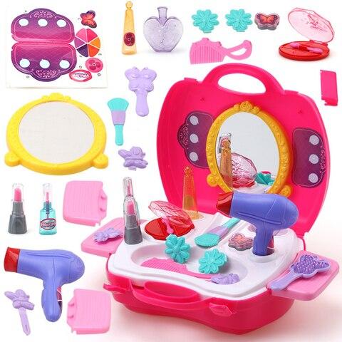 maquiagem fingir jogar conjunto casa jogar fazer simulacao brinquedos educativos diy cosmeticos bonecas do bebe