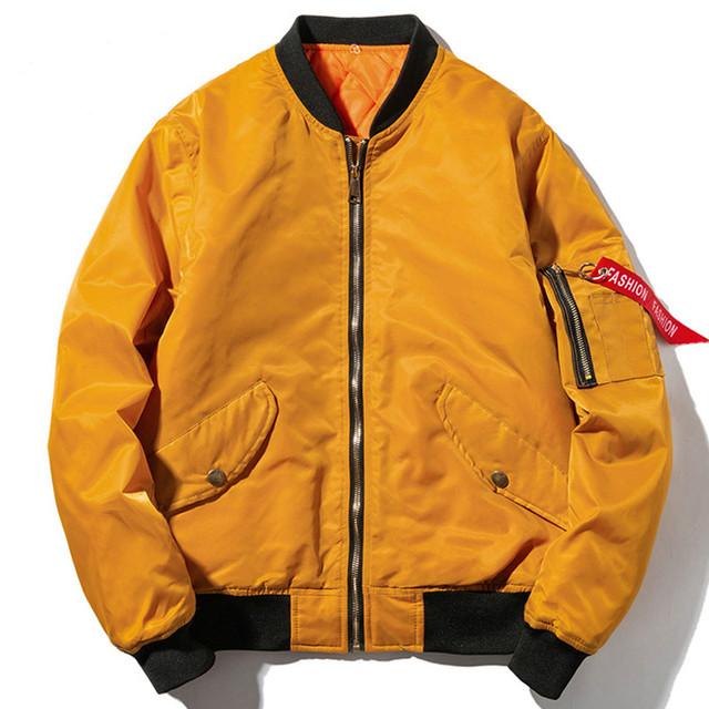 Winter Bomber Pilot Jacket Men Women Solid Hip Hop Hooded Baseball Jacket Fashion Youth Windbreaker Streetwear White Black Blue
