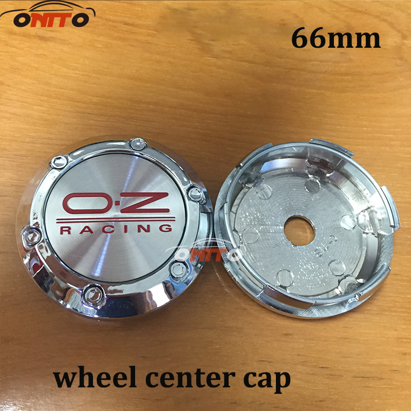 4pcs/Set 66mm Car Emblem Wheel Hub Caps Center Cover Caps Black Red OZ Racing Center Caps