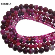 Wholesale Faceted Rose Red Agat Natural Stone Loose Beads For Jewelry Making DIY Bracelet Necklace 4 6 8 10 12 MM Strand 15.5