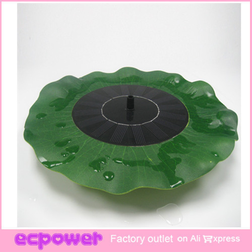 Floating Lotus Water Lily Solar Pond Fountain Portable Solar Power Decorative Fountain Pond Brushless Water Pump  1 Set
