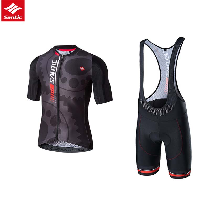 Santic Men Cycling Sets MTB Road Bike Jersey Sets Summer Short Sleeve Clothing Breathable Bicycle Skinsuit Sets Ropa Ciclismo santic men short sleeve cycling jersey breathable summer cycling clothing mtb road downhill bicycle bike jersey anti sweat