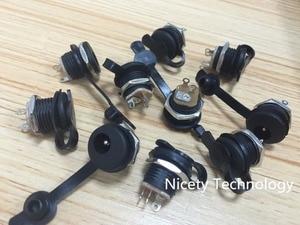 Image 2 - DC5.5x2.1mm 5.5x2.5mm כוח ג ק Socket נקבה הרכבה בלוח מחבר עבור סוללה יכול לרתך e אופני סוללה DIY אבק הוכחה