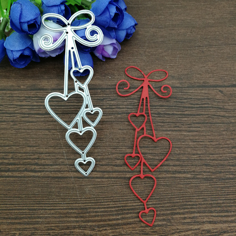 Heart Love Heart Bow Tie Metal Cutting Dies For DIY Scrapbooking Album Paper Cards Decorative Crafts Embossing Die Cuts