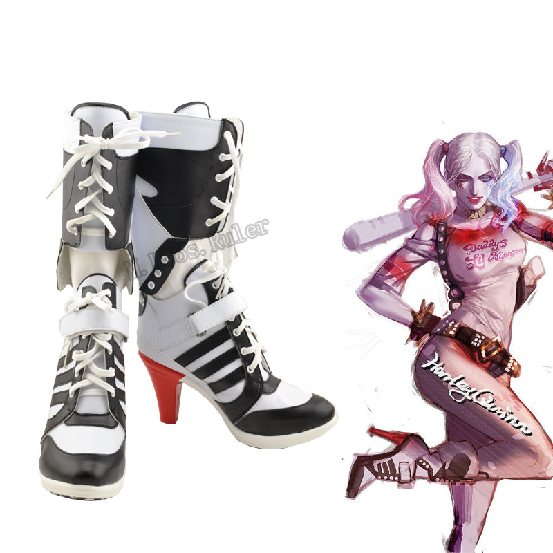 a1155371a73 New Arraval Batman DC Comic Suicide Squad Harley Quinn Cosplay Shoes  Original-in Shoes from Novelty   Special Use on Aliexpress.com