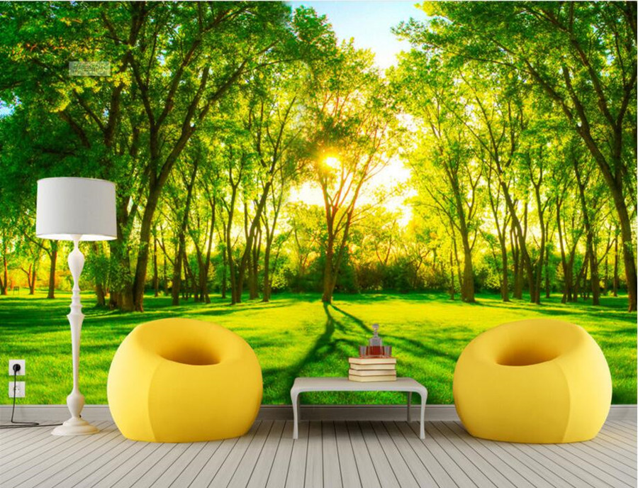 Beautiful Green Forest Scenery 3d Wallpaperrestaurant Kitchen Living Room Sofa TV Wall Bedroom Large Mural Papel De Parede In Wallpapers From Home