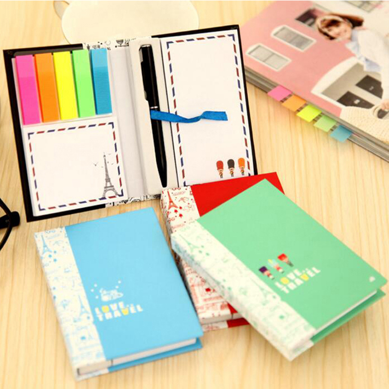 2 Sets Scratch Pad With Pen Creative Notes Sticky Notes Free Stickers Schedule Paper Nootbook Stationery Christmas Gift Prize