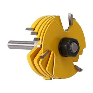 """Image 5 - Conjunto cortador 3 wing roteador 2 pçs, ferramenta para trabalhar madeira 8 """"& 12"""" haste tenon cortador para a ferramenta de carpintaria"""