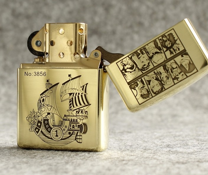 One Piece Luffy Silhouette Lighter Zippo Double Engraved One Piece Merchandise Free Shipping Worldwide