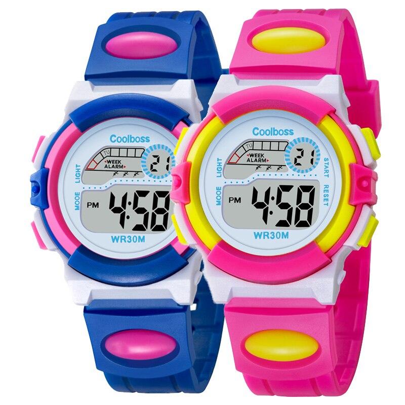 Fashion Sport Watch Children Kids Watches For Girls Students Electronic LED Digital Wristwatch Child Wrist Clock Hours Best Gift