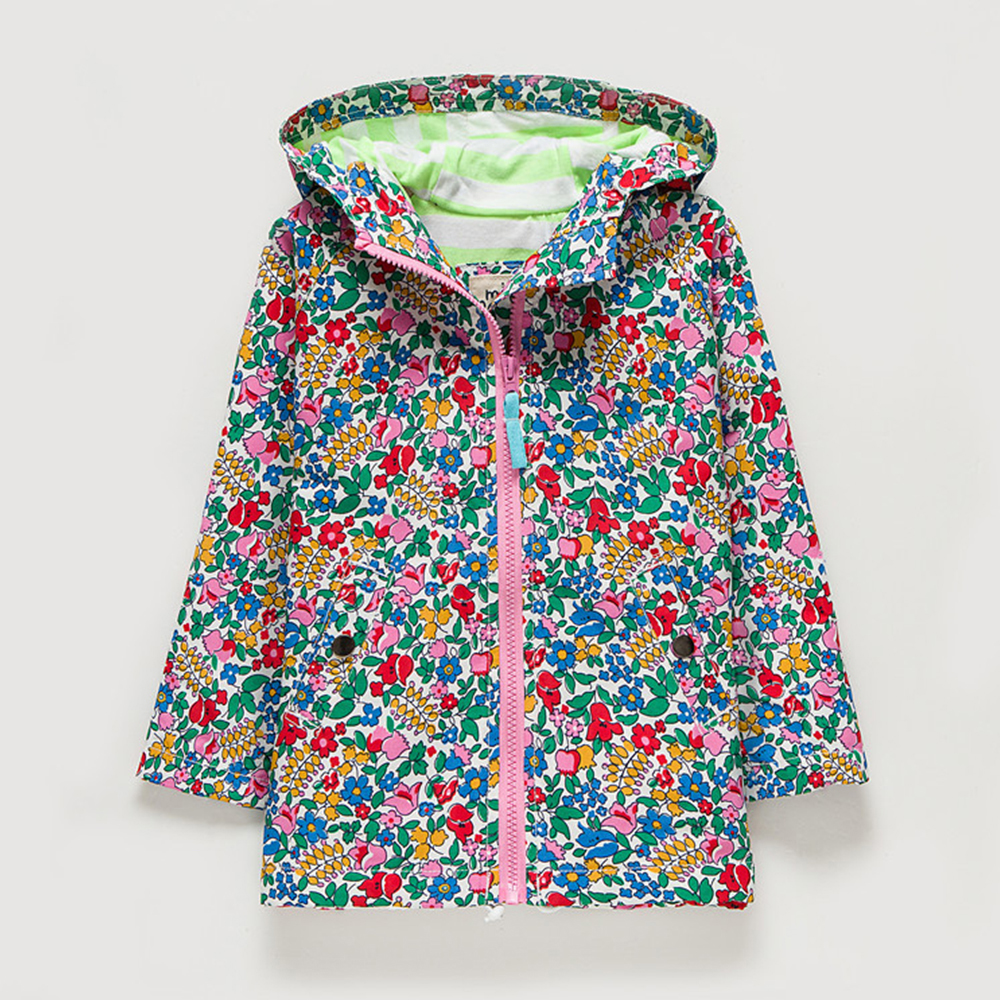 M26 Spring Autumn Fashion flower Thin Coat Child  Thin Padded Lining Jacket Hoodies Windbreaker Girl Coat Tops Outwear
