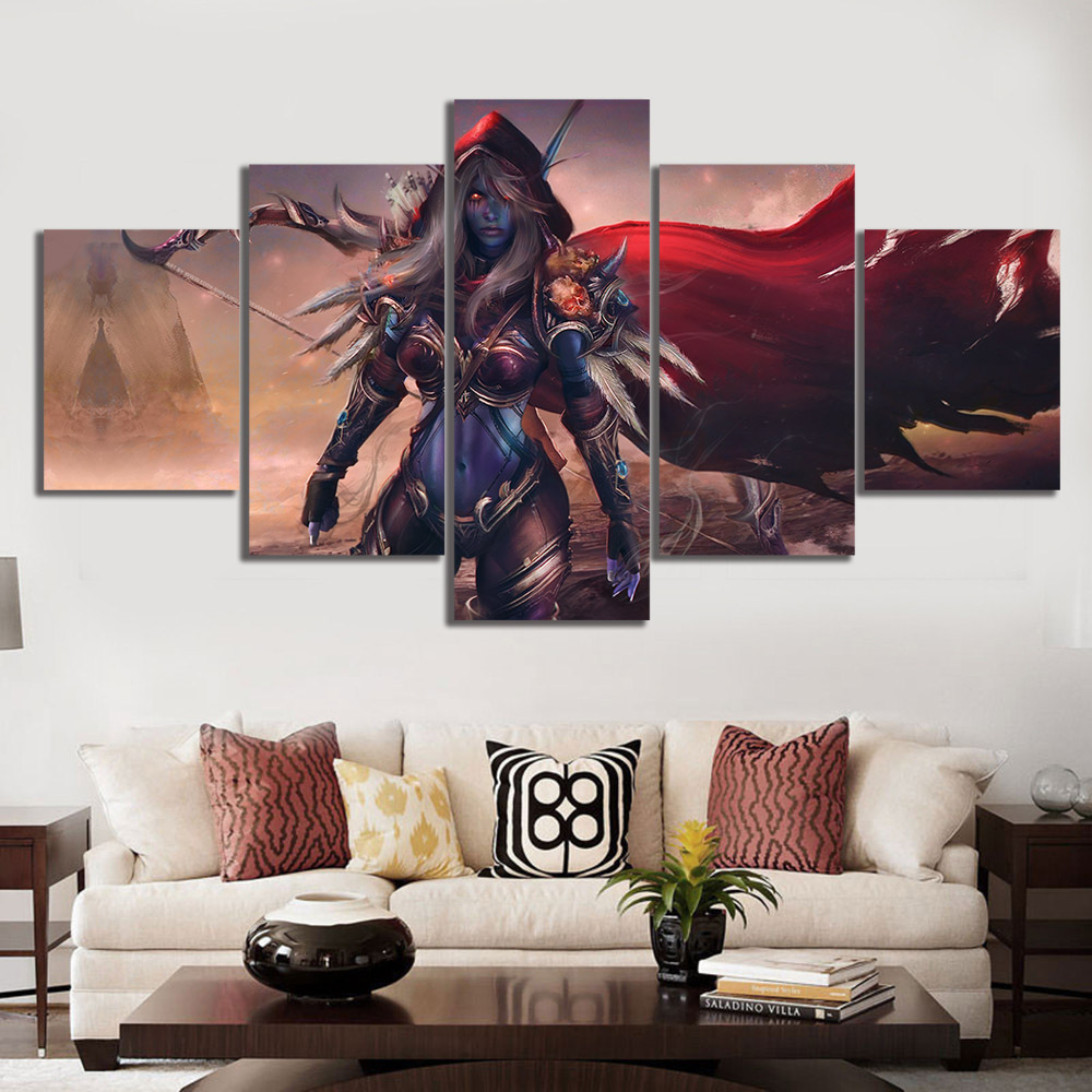 Affiche toile dart modulaire panneau Dota 2 Traxex | Imprimés muraux de jeu, peinture, décor de maison pour cadre de salon
