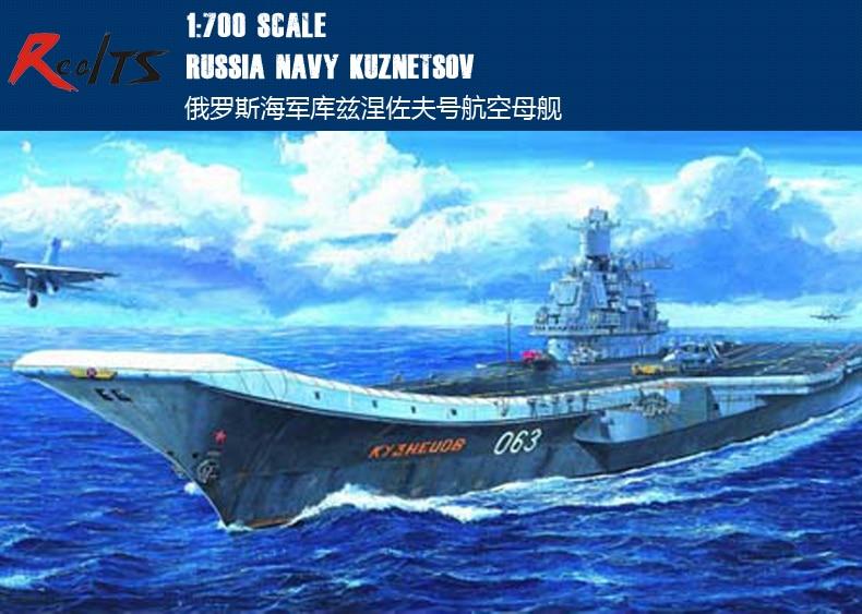 RealTS Trumpeter 1/700 05713 Russian Admiral Kuznetsov Plastic Model Kit цена