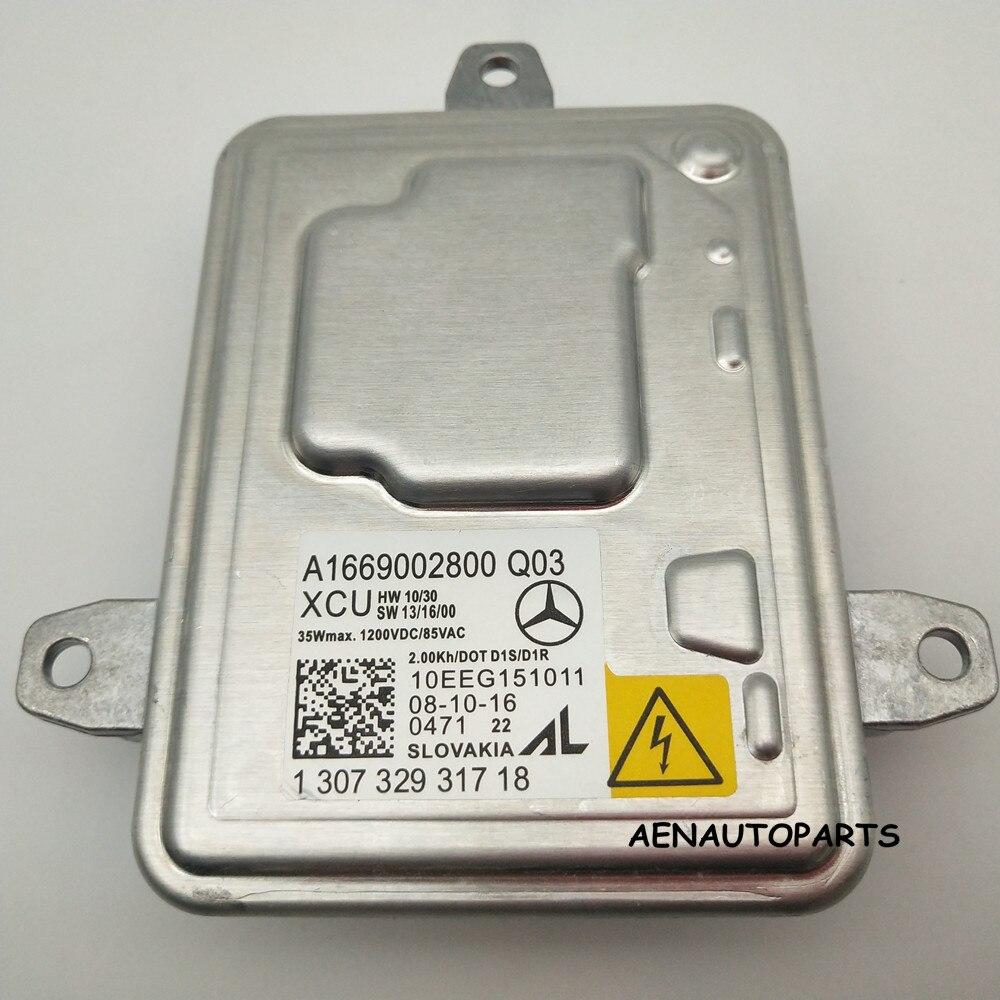 Genuine New OEM AL Xenon Ballast Control Unit A1669002800 Q03 for 2012 2014 Mercedes ML GL